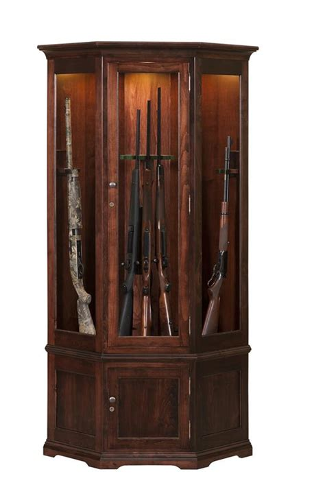 wooden gun cabinet amish handcrafted solid wood gun cabinet from dutchcrafters
