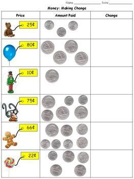 money making change quarters dimes nickels