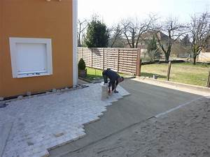 pavage allee de garage beton decoratif amenagement de jeux With amenagement allee de garage