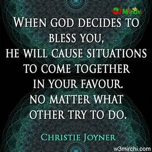 When god decide... Love Favour Quotes