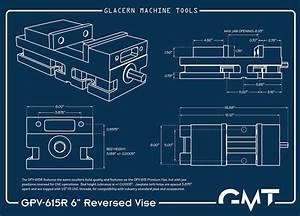 Glacern Machine Tools - GPV-615R Reversed Vise