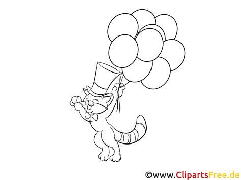katze fliegt mit luftballons ausmalbilder zum drucken
