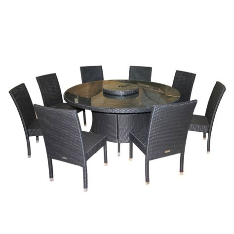 table and 8 chairs rio garden dining set large round table with 8 chairs in