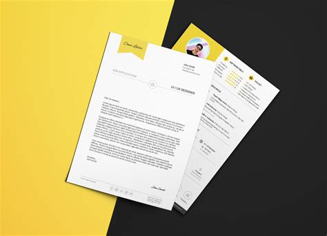 resume cv cover letter template  psd ai format