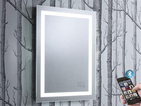 Bluetooth Bathroom Mirrors by Encore Illuminated Bluetooth Bathroom Mirror With Speakers