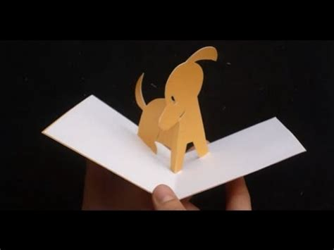 cute puppy pop  card tutorial youtube