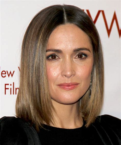 rose byrne medium straight ash brunette bob haircut