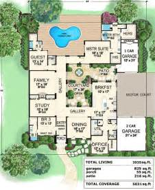 courtyard house plans central courtyard home 36118tx 1st floor master