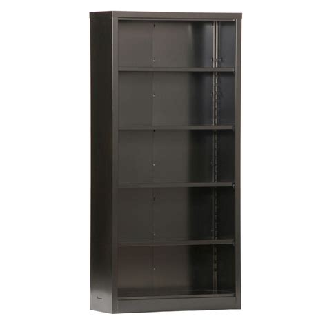 Steel Bookcase by Sandusky Black Steel Bookcase Bq10351372 09 The Home Depot