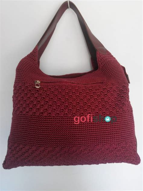 tas rajut kipas tas rajut besar motif stik kombinasi kipas terdapat dua