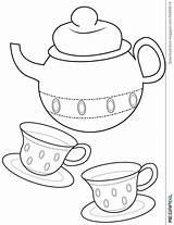 Coloring Pages Teacup Printable Tea Cup Getcolorings sketch template