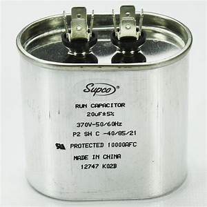 Goodman Trane Rheem 370v Oval Run 20 Mfd Capacitor New