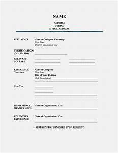 fill in blank printable resume resume template cover With fill in the blank resume