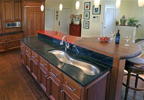 kitchen island with different countertop countertops that pop dig this design 8243