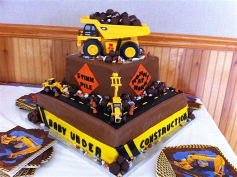 cakecreated baby  construction shower cake