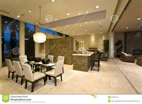 Modern And Spacious House Interior Stock Photo