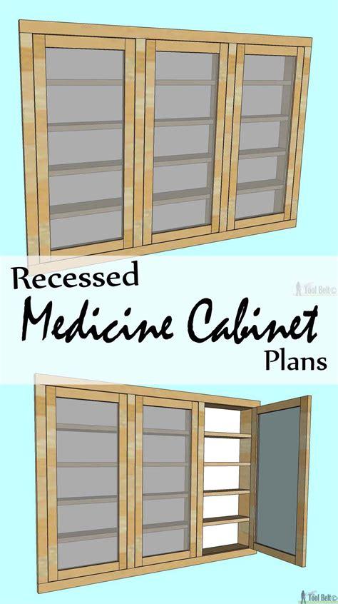 diy recessed medicine cabinet recessed medicine cabinet tool belt