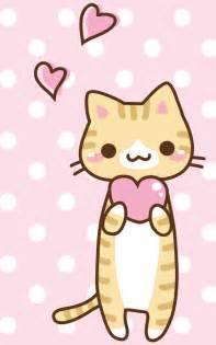 kawaii cat pink kitty find more kawaii wallpapers for