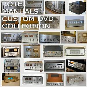 Details About Rotel Owners Manuals Owners Service Manuals