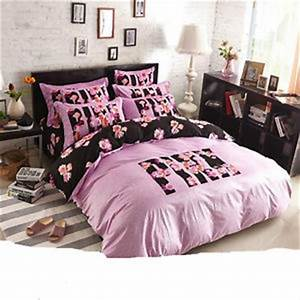 full size fleece duvet cover bedding set 4 pieces pink With bed covers for teenage girl
