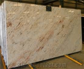 polished ivory brown granite slab low price from china