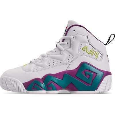 boys big kids fila mb basketball shoes whitepurple