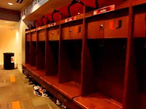miami hurricanes locker room youtube