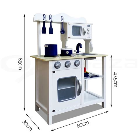 Wooden Kitchen Pretend Play Set Toy Kids Toddlers Cooking