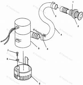 Polaris Watercraft 1996 Oem Parts Diagram For Bilge Pump