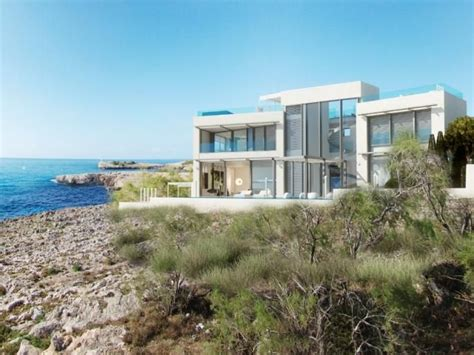 Mallorca Home Colored By Sea View by Elite Minimalist House For Sale In Sea Front Location In