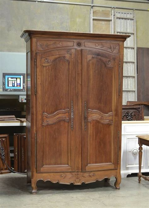 Country Style Armoires 2201011 Antique Country Normandy Style Walnut