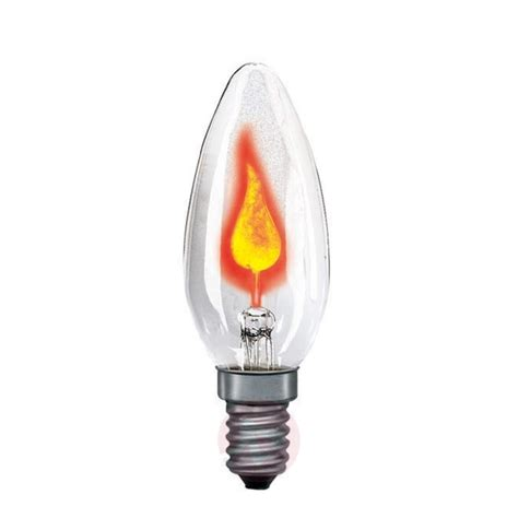 e14 3w flicker candle bulb clear lights co uk