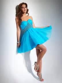 strapless wedding dresses vestidos cortos de azules
