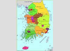 Mapa de Corea del Sur AnnaMapacom