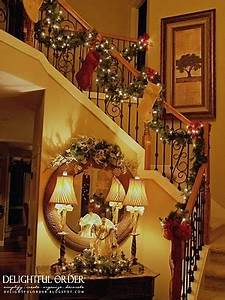 168 best Christmas Staircase Decor images on Pinterest