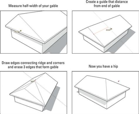 How To Make A Hip Roof by How To Construct Hip Roofs In Sketchup Dummies