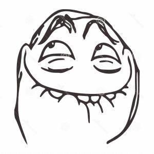 Vector Happy Lol Guy Meme Face For Any Design Eps ...