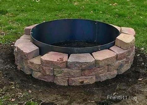 Fire Pit Block Steel Liners Steel Fire Pit Ring Liners Kitchen Storage Hell Small Appliances American Test Recipes Hells Pizza Iowa 80 Carts Target In The Green