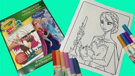 Crayola Color Wonder Disney Frozen Coloring Pages. How To