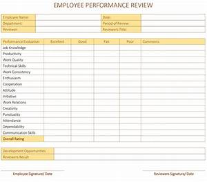 employee performance review template for word dotxes With employee reviews templates