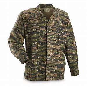 U S  Military Tiger Stripe Bdu Jacket  Reproduction