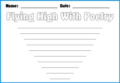 writing a poem template kite poetry templates unique kite shaped poetry templates and printable worksheets