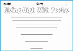 Free Printable Kite Template Kite Poetry Templates Unique Kite Shaped Poetry Templates
