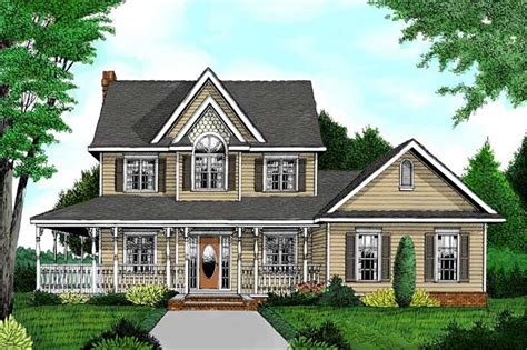 traditional country victorian farmhouse house plans home design