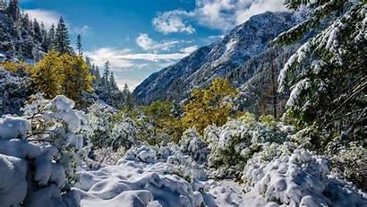 Snow Mountains Mountain Trinity Alps California Winter
