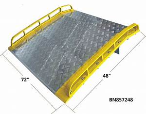 Extra 72 Inch Wide Aluminum Dock Plate With Full Length