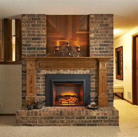 built  electric fireplace insert electric