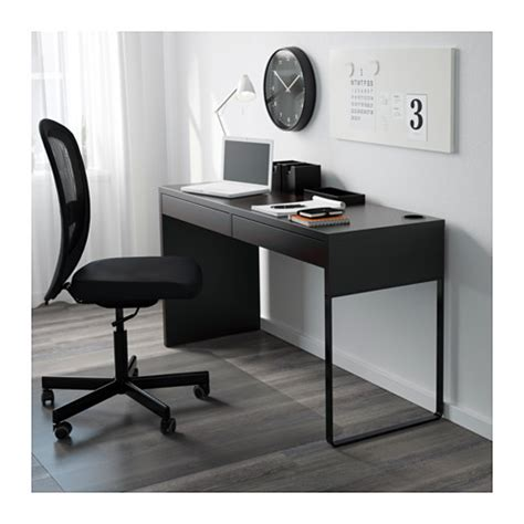 bureau ikea micke micke desk black brown 142x50 cm ikea