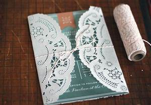 oh what love diy a lace doily wedding invitation sleeve With wedding invitations using paper doilies