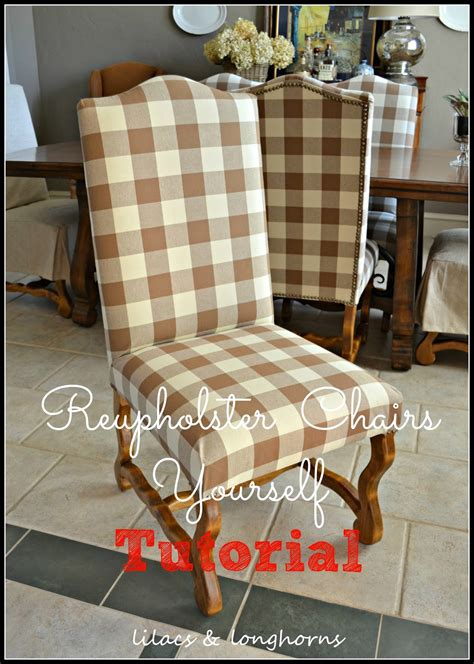 How To Reupholster A Dining How To Reupholster A Dining Chair Lilacs And